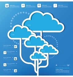 Communication Connection Cloud Shape Business vector