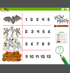 Counting educational activity with cartoon vector