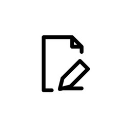 document reader icon with line style vector image