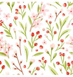 Elegant seamless pattern with translucent tender vector