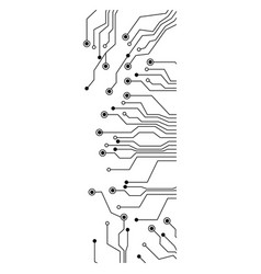 figure electrical circuits icon vector image