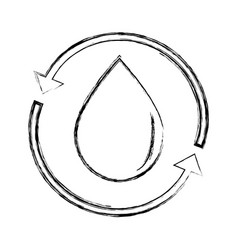 Figure water drop with arrows around vector