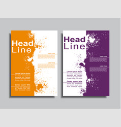 flyers report brochure cover book design template vector image