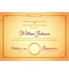 Golden classic premium plaque vector image