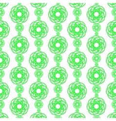 Green line flower vertical pattern on white vector