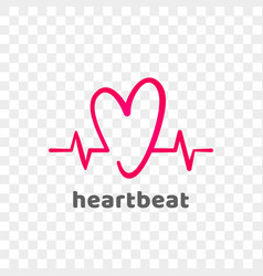 Heart logo modern heartbeat abstract icon vector