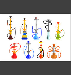 Hookah set hookah with pipe for smoking tobacco vector