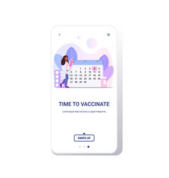 hospital doctor holding syringe with vaccine from vector image