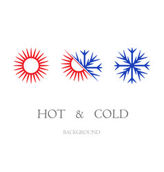 hot and cold symbols set vector image