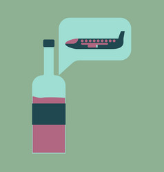 icon in flat design alcohol duty free vector image