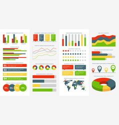infographics elements info charts diagrams and vector image