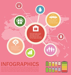 Infographics of an environment vector image