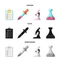 isolated object of and sign set of and ve vector image