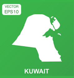 Kuwait map icon business concept kuwait pictogram vector