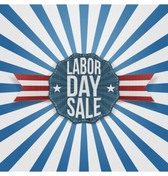 Labor Day Sale greeting Badge vector