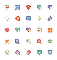 Love and Romance Colored Icons 4 vector image