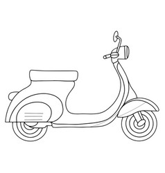 Motorcycle on a white background vector