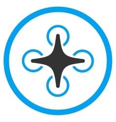 Nanocopter circled icon vector