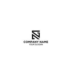 ng square logo design vector image