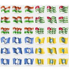 Niger Abkhazia Antarctica Kalmykia Set of 36 flags vector