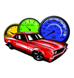 old school car muscle car vector image