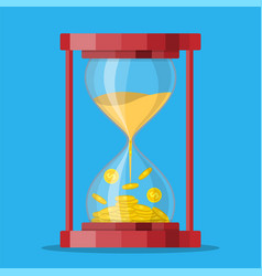 old style hourglass clocks vector image