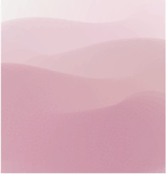 Pink hills watercolor background vector