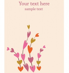 retro flowers background vector image