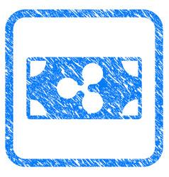 ripple banknote framed stamp vector image