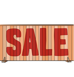 sale inscription on fence house real vector image