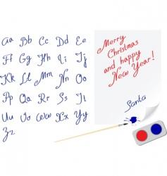 Santa letter vector image vector image