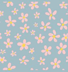 seamless pattern vintage flowers vector image