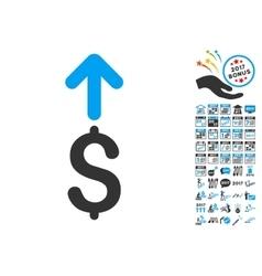Send Dollar Icon With 2017 Year Bonus Symbols vector