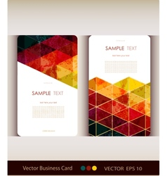 set abstract geometric business card vector image