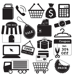Shopping Icons Collection vector image
