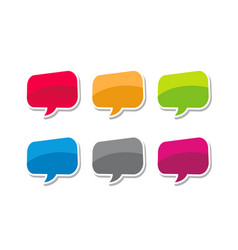 speech bubble colorfull bubble text vector image