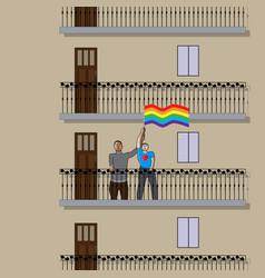 stop homophobia vector image