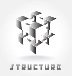 structure logo vector image