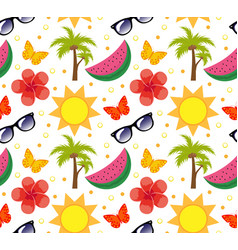 Summertime seamless pattern bright summer vector