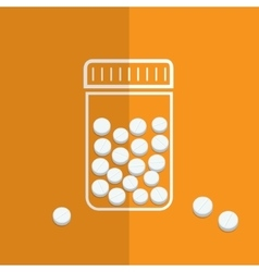 Symbol of bottle with pills vector