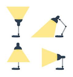 table office retro desktop lamp lighting bright vector image