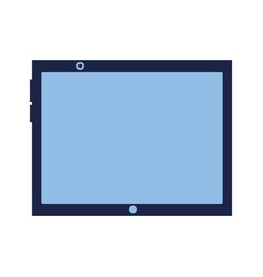 tablet computer gadget on white background vector image