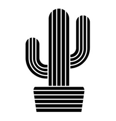 Tall cactus icon simple style vector