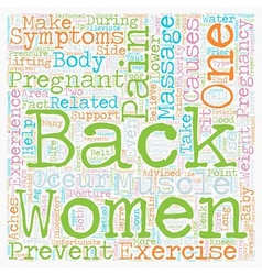 The Aches and Pains of Pregnancy and Back Pain vector