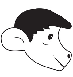 The head of the monkey vector image