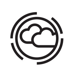 thin line cloudy icon vector image