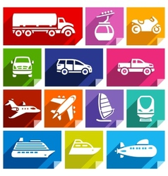 Transport flat icon bright color-07 vector