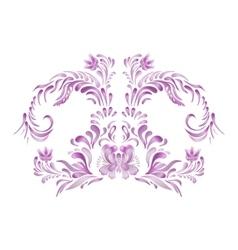 Violet vintage flowers vector image