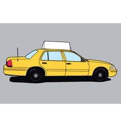 Yellow Taxi Cab vector