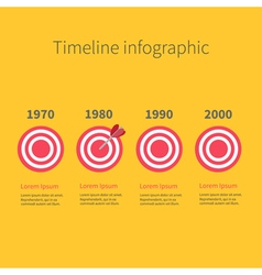 Infographic timeline four step round circle target vector